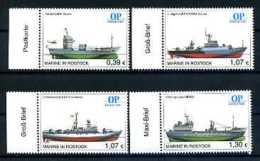 A14530)Schiffe: Bundesrepublik Privatpost Ostsee-Post 4 Werte** - Schiffe