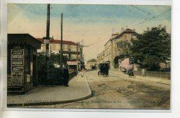 95-02 ENGHIEN Les BAINS Carte RARE Grande Rue Pont De CHemin De Fer Affiches Publicité Gaveau Pianos  1910    /D03-2016 - Enghien Les Bains