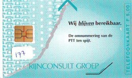 NEDERLAND CHIP TELEFOONKAART CRD-177 *  RIJNCONSULT GROEP *  Telecarte A PUCE PAYS-BAS ONGEBRUIKT  MINT - Nederland