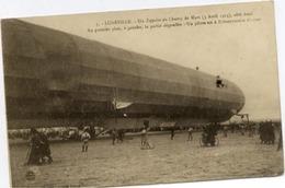 Dt 54 LUNÉVILLE - Un ZEPPELIN Au Champ De Mars (3 Avril 1913), Côté Droit - Beau Plan Animé - Luneville