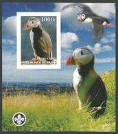 BENIN 2007 BIRDS PUFFINS FISH SCOUTS IMPERF M/SHEET MNH - Benin - Dahomey (1960-...)