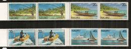 La Pèche En Mer à L'île NAURU (Ocean Pacifique), 8 Timbres En Paires Neufs ** Se-tenant - Nauru