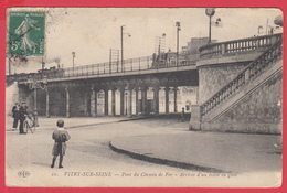 CPA-94- VITRY Sur SEINE _Arrivée D'un Train En Gare - Ann.1910 **  2 SCANS * - Vitry Sur Seine