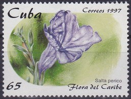 Timbre-poste Gommé Neuf** - Ruellie Tubéreuse Salta Perico (Ruellia Tuberosa) - 3671 (Yvert) - République De Cuba 1997 - Cuba