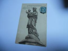 43 HAUTE LOIRE CARTE ANCIENNE EN N/BL  DE 1921 LE PUY STATUE DE NOTRE DAME  DE FRANCE  COULEE EN 1860  EDIT BEGUIN - Le Puy En Velay