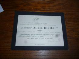 LDM4  Alfred Bouillet Brasseur Brasserie Seloignes 1934 - Avvisi Di Necrologio