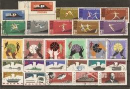 Pologne 1961/67 - Petit Lot De 8 Séries Complètes° - Espace - Baskett - Athlétisme - Révolution D'Octobre - Armée - Timbres