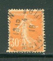 FRANCE- Y&T N°141- Oblitéré - 1906-38 Semeuse Con Cameo
