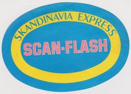 Vieux  Papier :  étiquette  : Skandinavia  Express , Scan - Flassh , Scnadinave - Labels