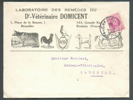 BELGIUM 1Superb Cover Ill. Laboratoires Des Remèdes Du Dr. Vétérinaire DOMICENT (vache Coq Pigeon Chien Cheval - Cow Hor - Columbiformes
