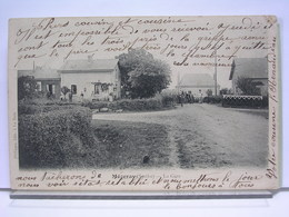 72 - MEZERAY - LA GARE - ANIMEE - PASSAGE A NIVEAU - DOS SIMPLE - 1905 - France