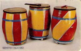 TARJETA TELEFONICA DE VENEZUELA. TOQUES Y REPLIQUES VENEZOLANOS (Tambores Pipas  (6/7) CAN2-0689A (375) - Música