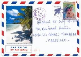 """POLYNESIE FRANCAISE - Enveloppe Affr. 100F Journée De La Femme Oblitérée """"PIRAE ILE-DE-TAHITI"""" 2.1.2013 - Lettres & Documents"""