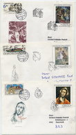 CZECHOSLOVAKIA 1992 National Gallery Paintings On 5 FDCs.  Michel 3102-06 - FDC