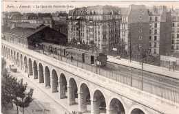PARIS AUTEUIL LA GARE DU POINT DU JOUR 1907 TBE - Métro Parisien, Gares