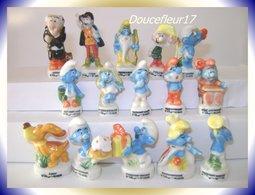 Schtroumpf .. Série Complète De 15 Fèves Dont 5 Rares .. Ref AFF : 8-1996 .. ( Pan 0042) - Cartoons