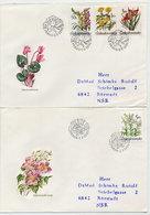 CZECHOSLOVAKIA 1990 Garden Flowers On 2 FDCs.  Michel 3038-41 - FDC