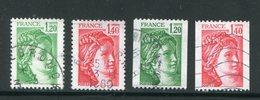 FRANCE- Y&T N°2101 à 2104- Oblitérés - Gebraucht