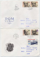 CZECHOSLOVAKIA 1990 Personalities On 4 FDCs.  Michel 3030-35 - FDC