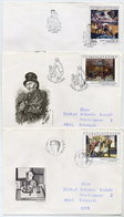 CZECHOSLOVAKIA 1989 National Gallery Paintings On 3 FDCs.  Michel 3025-27 - FDC