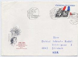 CZECHOSLOVAKIA 1989 Bicentenary Of French Revolution On FDC.  Michel 3005 - FDC