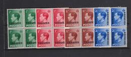 MAROC Bureaux Anglais TANGER 1937: La Série Complète (Y&T 15-17) Et Le Y&T 38  En Blocs De 4, Neufs** - Morocco (1956-...)