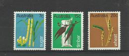 Plantes Canne à Sucre Blé Eucalyptus   Australie  YT 388/90* - Plants
