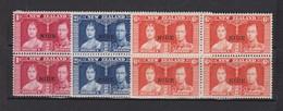 NIUE 1937: 'Couronnement De Georges VI', La Série Complète (Y&T 59-61)  En Blocs De 4, Neufs** - Niue