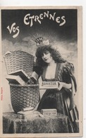 CPA.Fantaisie.1905.Vos Etrennes.Femme Avec Couronne 1906, Paquets Et Boites Sur Une Table - Autres
