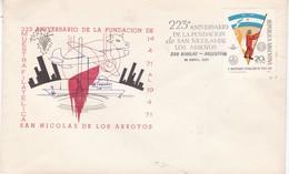 223 ANIVERSARIO FUNDACION DE SAN NICOLAS DE LOS ARROYOS AÑO 1971. SPECIAL COVER - BLEUP - Storia Postale