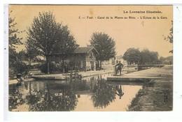 CPA-54-1906-TOUL-CANAL DE LA MARNE AU RHIN-L'ECLUSE DE LA GARE-L'ECLUSIER-METIE- - Toul
