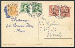 1943 Sweden Boras Official Barnens Dag Charity Postcard. - Sweden