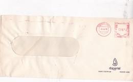 DUPERIAL COMMERCIAL ENVELOPE AFFRANCHISSEMENT MECANIQUE BUENOS AIRES YEAR 1975 - BLEUP - Storia Postale