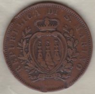 REPUBBLICA DI SAN MARINO . 10 CENTESIMI 1875 - Saint-Marin