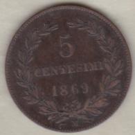 REPUBBLICA DI SAN MARINO . 5 CENTESIMI 1869 M - Saint-Marin
