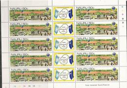 Nauru Independence 1968.  Feuillet Neuf ** Entier Avec Vignettes Centrales, Côte 10,00 Euro - Nauru