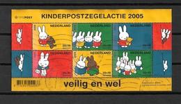 2005 Netherlands Complete M/Sheet Child Welfare,kinderzegels Used/gebruikt/oblitere - Blokken