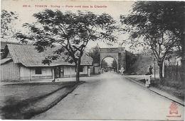 CPA  Tonkin Sontay Porte Nord Dans La Citadelle - Vietnam