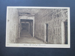 Ägypten 1925 Postkarte Thebes The Tomb Of Rameses IX Editeurs Lehnert & Landrock Cairo - Ägypten