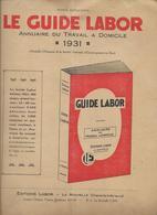 Le Guide LABOR De La Rochelle En 1931 - Travail à Domicile - La Rochelle
