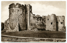 CHEPSTOW CASTLE : EAST FRONT AND MAIN ENTRANCE - Monmouthshire
