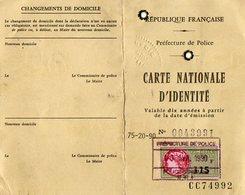 VP12.820 - PARIS 1990 - Carte D'Identité - Mme TEMINE épouse BUENO Née à ALGER En 1917 - Police & Gendarmerie