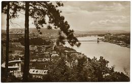Budapest - View From Gellerthill - Vue Pris Du Mont Gellert Torvenyesen Real Photo - Hungary
