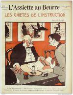 L'ASSIETTE AU BEURRE-1908-391-GRAVURES BERNARD-LES GAIETES De L'INSTRUCTION - Books, Magazines, Comics
