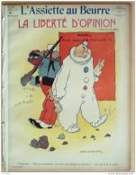 L'ASSIETTE AU BEURRE-1908-396-GRAVURE FLORES VIRIEZBERNARD-LA LIBERTE D'OPIGNON - Books, Magazines, Comics