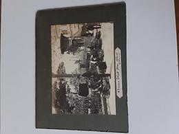 TWO GREAT PHOTOS  GREECE GRIEKENLAND ÷1897 RECTO VERSO SUR CARTON AFMETINGEN  20 CM OP 15 CM - Photographs