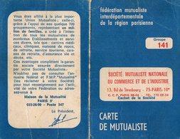 VP12.821 - PARIS 1969 - Carte De Mutualiste - Mr V. BUENO à SARCELLES - Non Classés