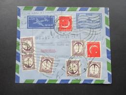 Pakistan 1959 LuftpostBrief / Aerogramm Mit 18 Marken / Zusatzfrankaturen!! National Bank Of Pakistan - Pakistan