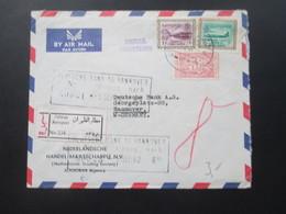 Saudi Arabien 1962 Luftpost Der Nederlandsche Handel - MaatschappiJ R-Zettel Zahran Aeroport No 534 Airmal Registered! - Saudi-Arabien