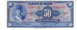 Mexico P.49 50  Pesos 1972 Unc - Messico